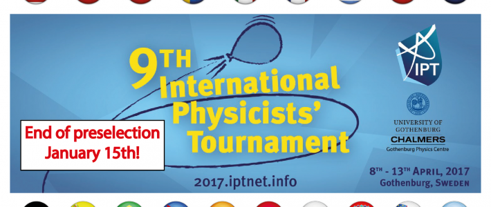 Only one week left to register for the IPT!